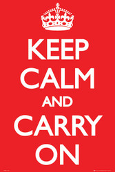 LONDON- Keep Calm and Carry On Poster-#527