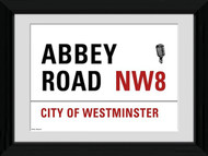 LONDON Framed Photos- Abbey Road Street Sign