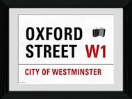 LONDON Framed Photos- Oxford St. Street Sign