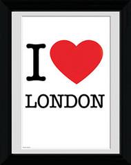 """LONDON Framed Photos- I """"Heart"""" London  Sign"""