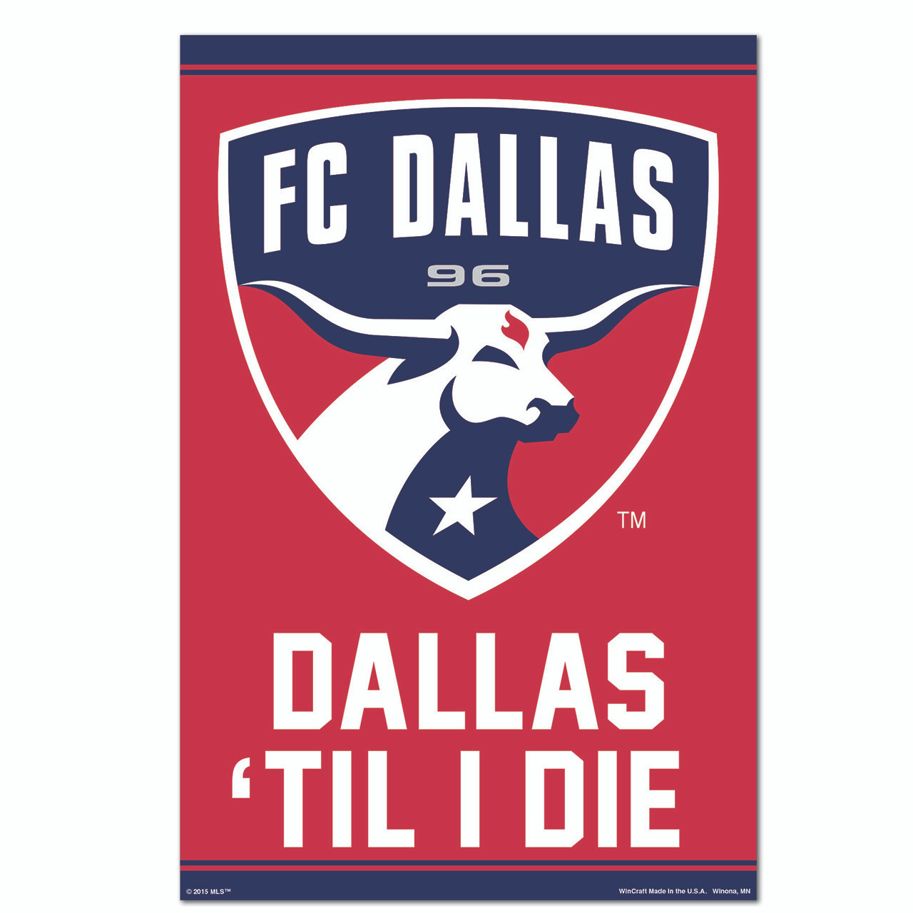 Official Team Crest Poster FC Dallas