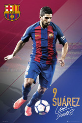 BARCELONA FC, Suarez Official Soccer Action Poster 2016/17-#403