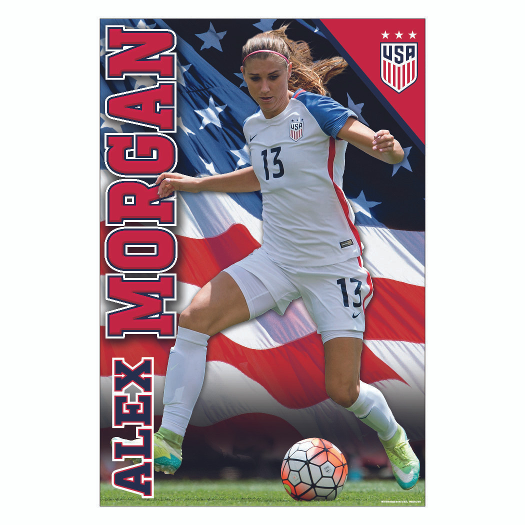 quite nice 0b07b 94995 US Womens Alex Morgan-Home Off Scr Pstr 16/17 #113