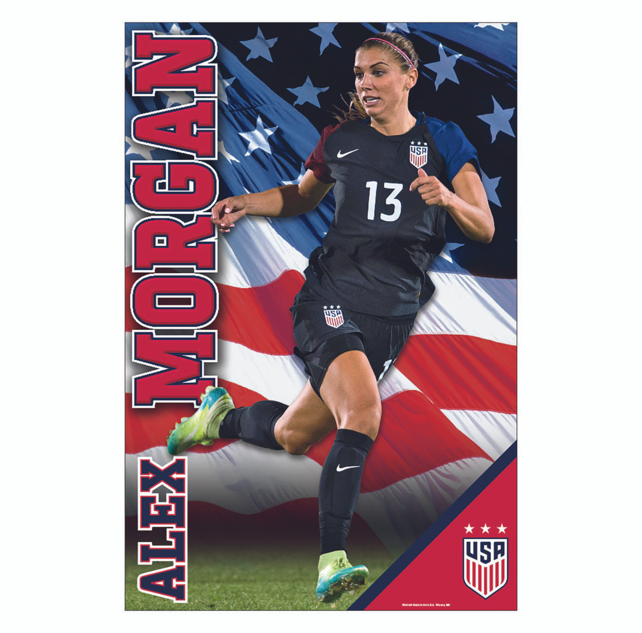new style 8cc18 3059a Alex Morgan Action Poster 2017 | Away Jersey-#114