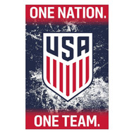 USA TEAM CREST/ ONE NATION- Official Soccer Poster 2016/17-#19
