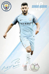 MANCHESTER CITY AGUERO Official Soccer Player Poster 2016/17-#378