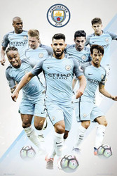 MANCHESTER CITY PLAYERS  Official Soccer  Poster 2016/17-#379