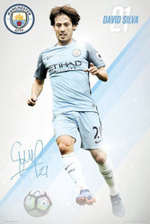 MANCHESTER CITY SLIVA Official Soccer Player Poster 2015/16-#397