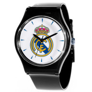 38mm Real Madrid FC Black Licensed Team Watch with Official Real Madrid Crest - Buy Online SoccerMadUSA.com