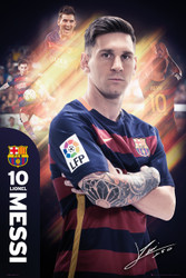 BARCELONA FC, Messi Official Soccer Player Poster 2015/16, #298