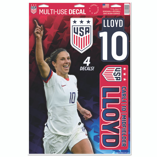 Carli Lloyd Set of 4 Licensed Decals | The Poster Alternative