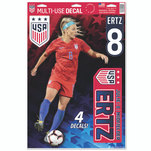 Julie Ertz Set of 4 Licensed Decals | The Poster Alternative