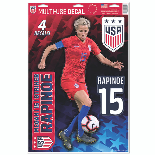 Megan Rapinoe | Set of 4 Licensed Decals | The Poster Alternative
