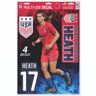 Tobin Heath | Set of 4 Licensed Decals | The Poster Alternative