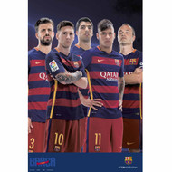 Barcelona FC Superstars Soccer Team Poster 2015/16 - Buy Online SoccerMadUSA.com