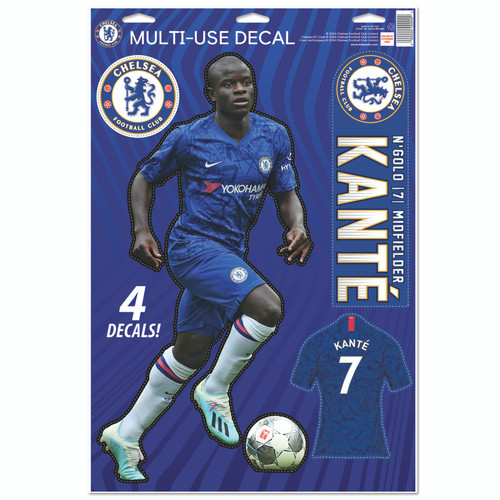 Chelsea FC N'golo Kante Decal Set of 4