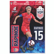 Megan Rapinoe Decal Set of 4 - 4 Star Crest