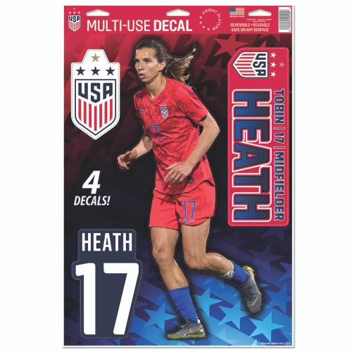 Tobin Heath Decal Set of 4 - 4 Star Crest