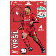 Liverpool FC - Virgil van Dijk -Set of 4 Licensed Decals