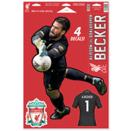 Liverpool FC - Allison Becker -Set of 4 Licensed Decals