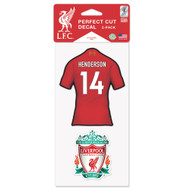 Liverpool FC - Jordan Henderson - Set of 2 Licensed Decals