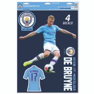 Manchester City FC - Kevin DeBruyne - Set of 4 Licensed Decals