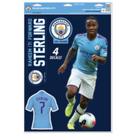 Manchester City FC - Raheem Sterling - Set of 4 Licensed Decals