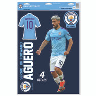 Manchester City FC - Sergio Aguero - Set of 4 Licensed Decals