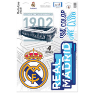 "Real Madrid Team Crests -Set of 4 Licensed Decals 11"" x17"""