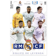 "Real Madrid  Players 19/20 - Set of 4 Licensed Decals 11"" x17"""