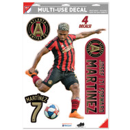 "Josef Martinez Atlanta United Team Crests -Set of 4 Licensed Decals 11"" x17"""