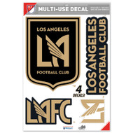 "LAFC Team Crests -Set of 4 Licensed Decals 11"" x17"""