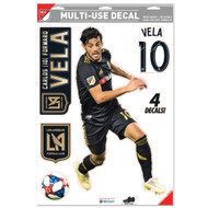 "Carlos Vela LAFC Team Crests -Set of 4 Licensed Decals 11"" x17"""