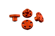 T-Maxx E-Maxx Orange Anodized Aluminum Knock Off Wheel Hub Nuts Set of 4