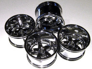"Tmaxx Emaxx Savage Shiny 1"" Offset  (4) Rims 83x56mm"