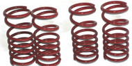 Traxxas Slayer and XO-1  Red powder coated Dual Rate Shock Springs Set