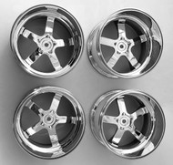 "Tmaxx Emaxx Savage Stampede Shiny 1"" Offset 3.8 14mm hub (4) Rims"