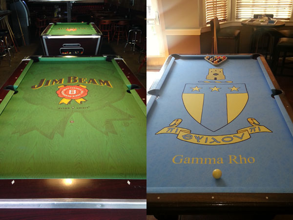 Jim Beam and Fraternity Custom ArtScape Pool Table Felt