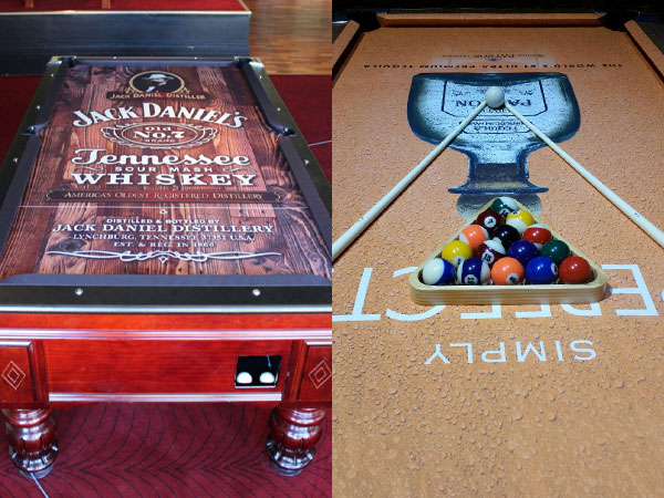 Jack Daniels and Patron Custom ArtScape Pool Table Felt