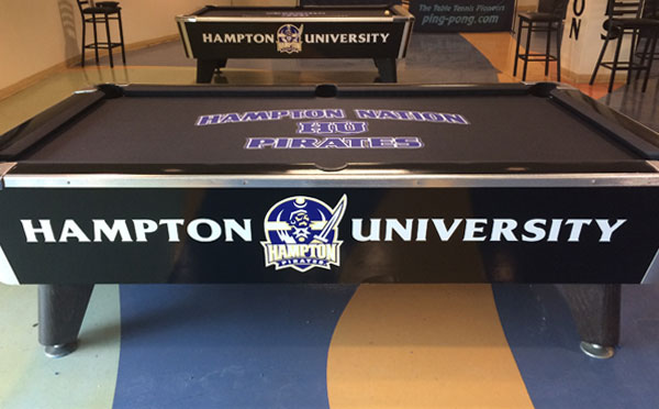 Hampton University Custom ArtScape Pool Table Felt