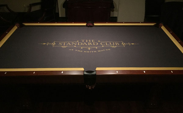 The Standard Club Custom ArtScape Pool Table Felt