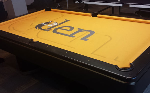 Missouri Tigers Den Custom ArtScape Pool Table Felt
