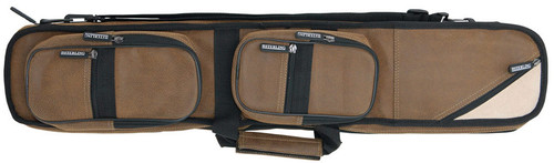 Sterling Brown Angora Pool Cue Case for 4 Cues