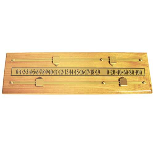 Brass and Oak Wall-Mounted Scoreboard