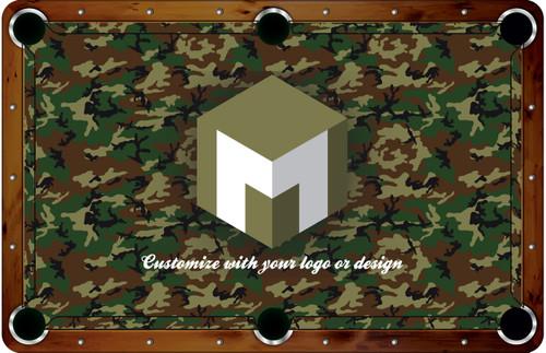 ArtScape 7 ft Custom Pool Table Felt Design