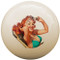 Custom Pool Cue Ball - Pinup Girl