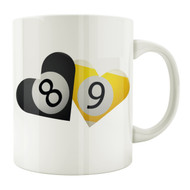 8 & 9-Ball Hearts 11oz. Coffee Mug