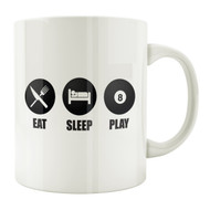 Eat Sleep Play 8-Ball 11oz. Coffee Mug