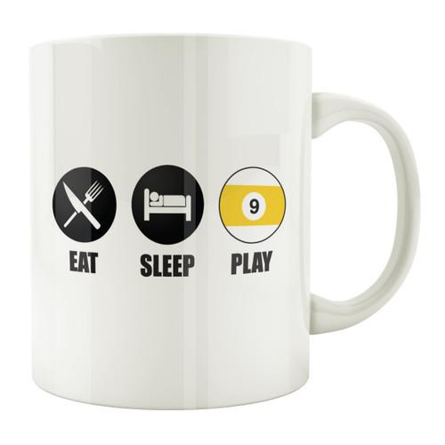 Eat Sleep Play 9-Ball 11oz. Coffee Mug