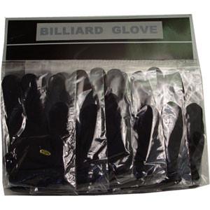 Sterling Black Billiard Gloves, Card of 12
